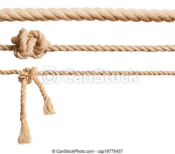 Cuerdas aisladas en blanco - csp19775437
