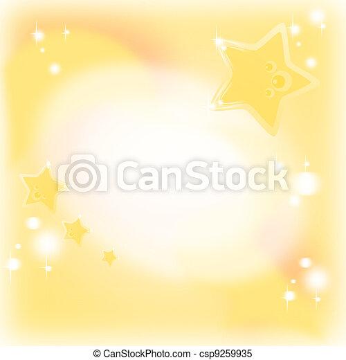 sognante, dorato, magia, fondo, stelle - csp9259935