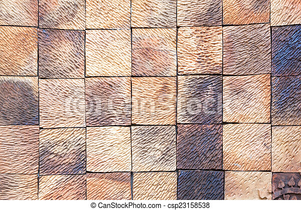 Soil block wall - csp23158538
