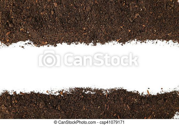 Soil on white background - csp41079171