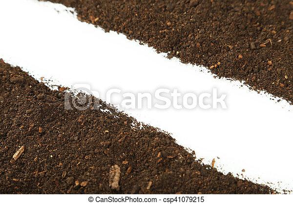 Soil on white background - csp41079215