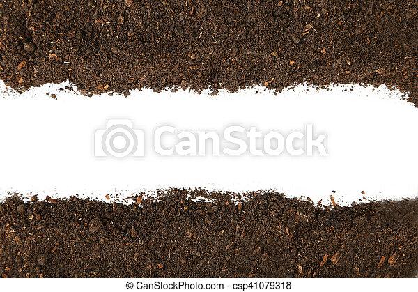 Soil on white background - csp41079318