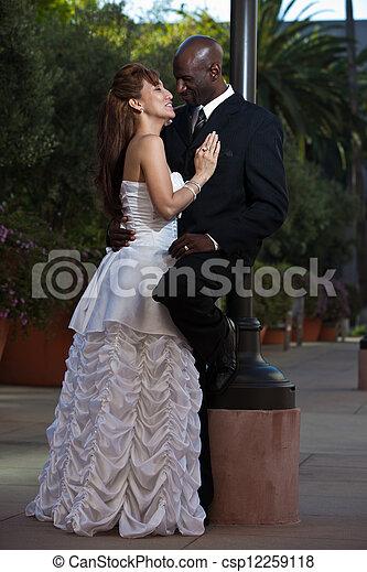 sok nemzetiségű, házasság, bájos - csp12259118