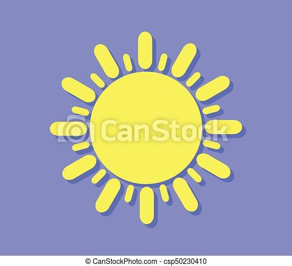sol, ícone - csp50230410