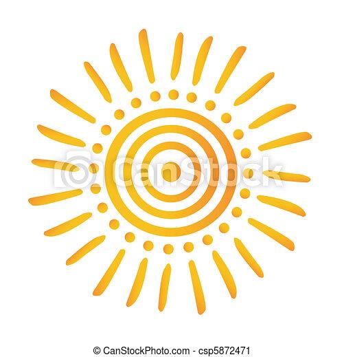 sol, ícone - csp5872471