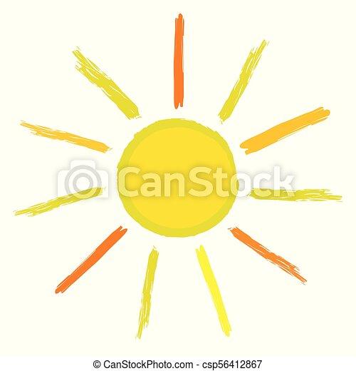 sol, ícone - csp56412867