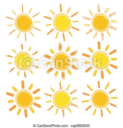 sol, ícones - csp5893530