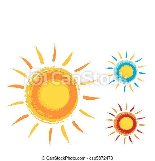 sol, ícones - csp5872473