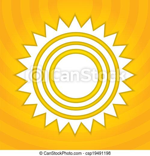 sol, abstratos, ilustração - csp19491198