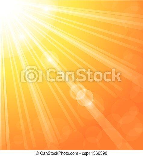 sol, abstratos, raios, fundo, luz - csp11566590