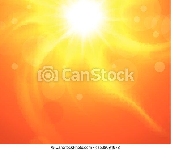 Trasfondo naranja con sol - csp39094672