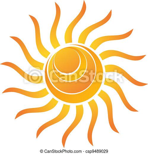 sol, brilhante, amarela - csp9489029