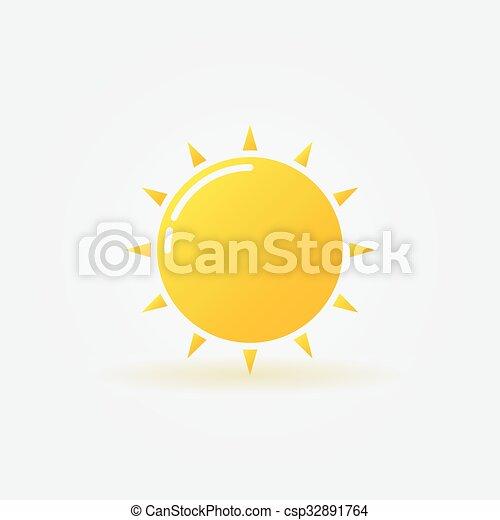 sol, brilhante, logotipo - csp32891764