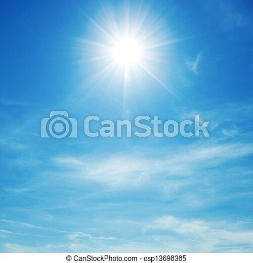 sol, céu - csp13698385