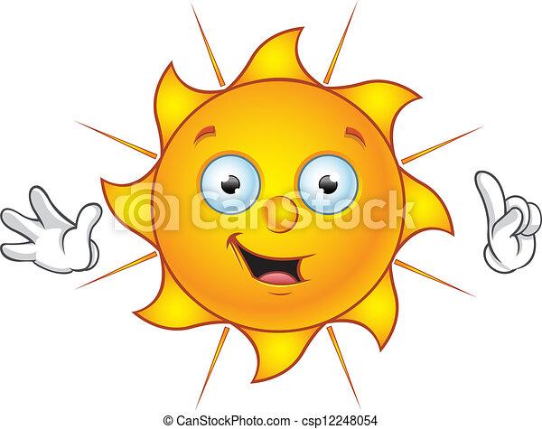 El personaje del sol, teniendo una idea - csp12248054