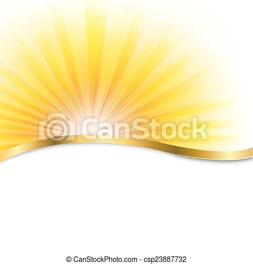 El póster del sol con vigas - csp23887732