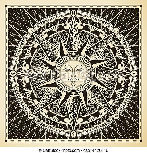 sol, compasso - csp14420816