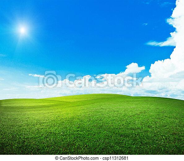 sol, encima, colinas - csp11312681
