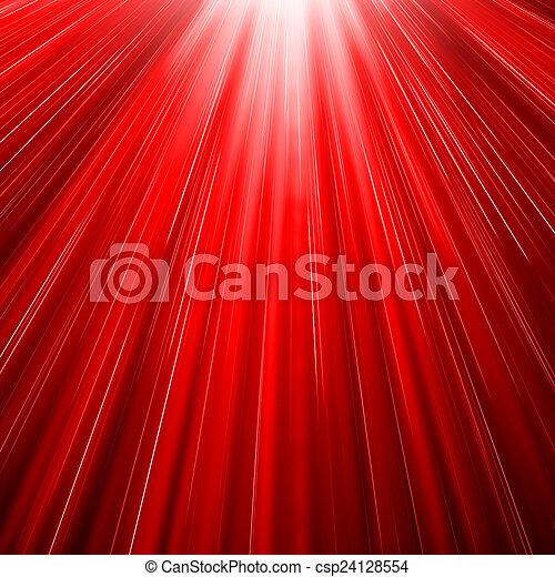 sol, explosão, vermelho - csp24128554