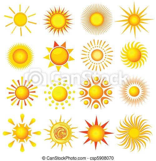 iconos del sol - csp5908070