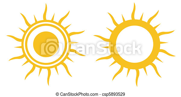 iconos del sol - csp5893529