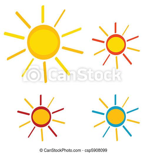 iconos del sol - csp5908099