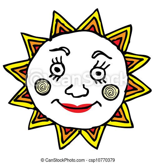 sol, ilustração - csp10770379