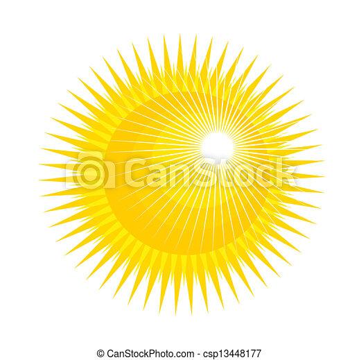 sol, ilustração - csp13448177