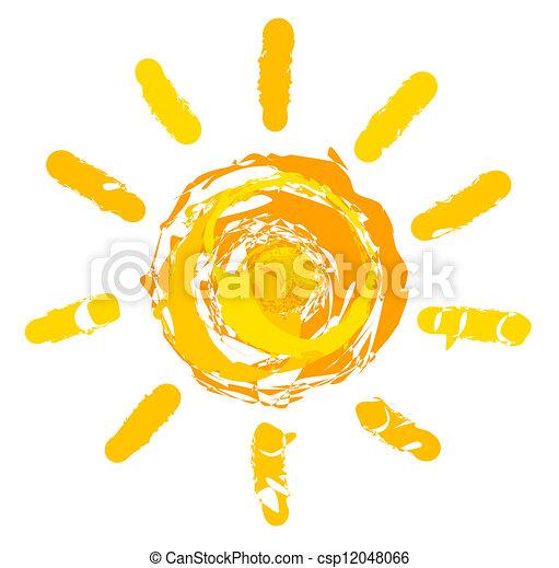 sol, ilustração - csp12048066
