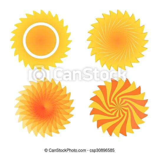 sol, ilustração - csp30896585