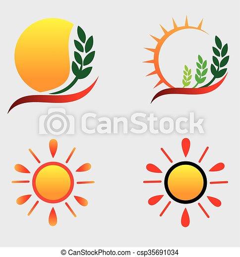 sol, logotipos - csp35691034