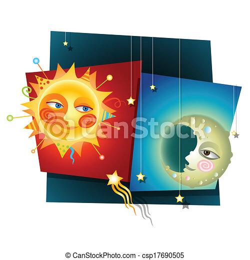 Sol y luna - csp17690505