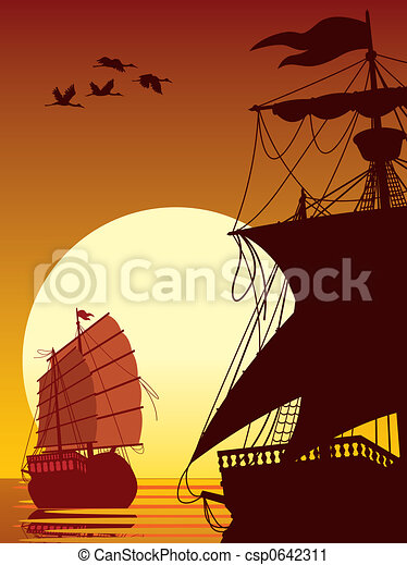Navegando hacia el sol - csp0642311
