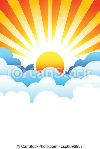 El sol sale en las nubes - csp8096957