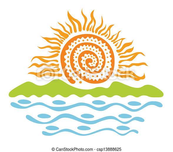 sol, paisagem - csp13888625