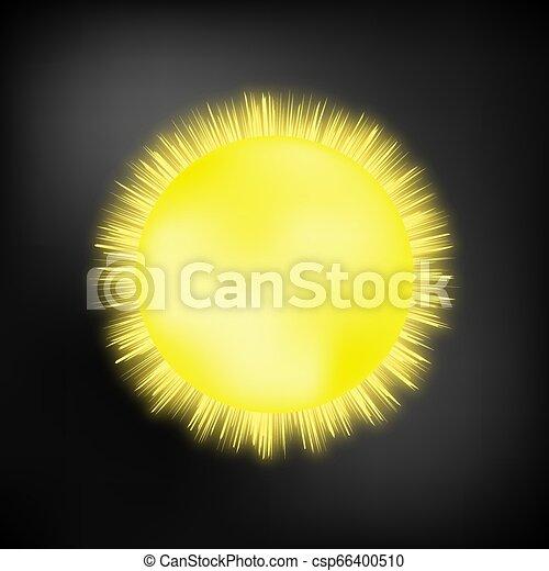 sol, quentes, ilustração - csp66400510