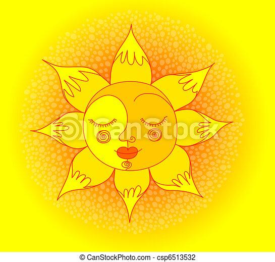 Sol sonriente - csp6513532