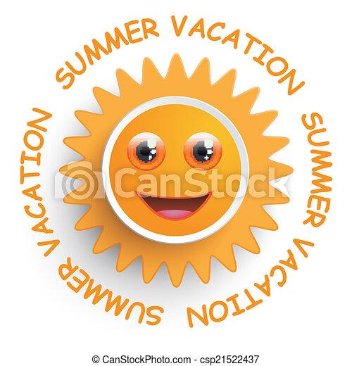 Vacaciones de verano del sol sonriente - csp21522437