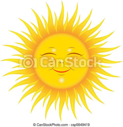 sol, sorrindo - csp5649419