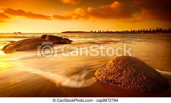 sol, tingido, praia - csp9972794