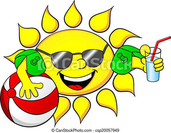 Sol en vacaciones de verano - csp20057949