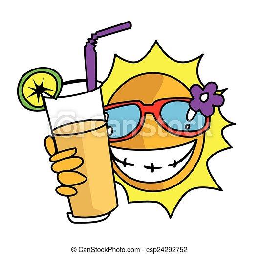 Sol de verano - csp24292752