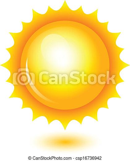 sol, vetorial, brilhante, ilustração - csp16736942