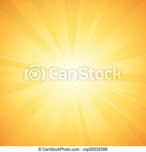 sol, vetorial, brilhante - csp30032588