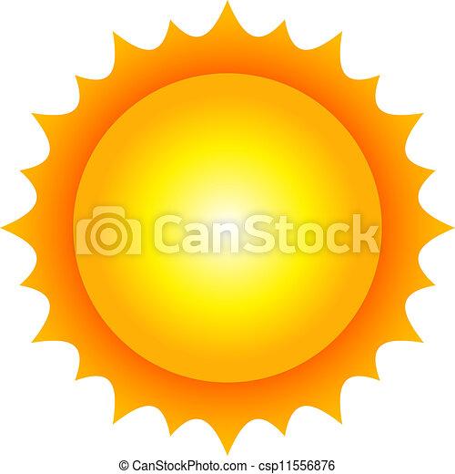 sol, vetorial, ilustração - csp11556876