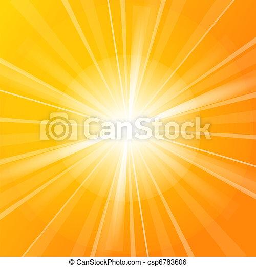sol, vetorial, ilustração - csp6783606
