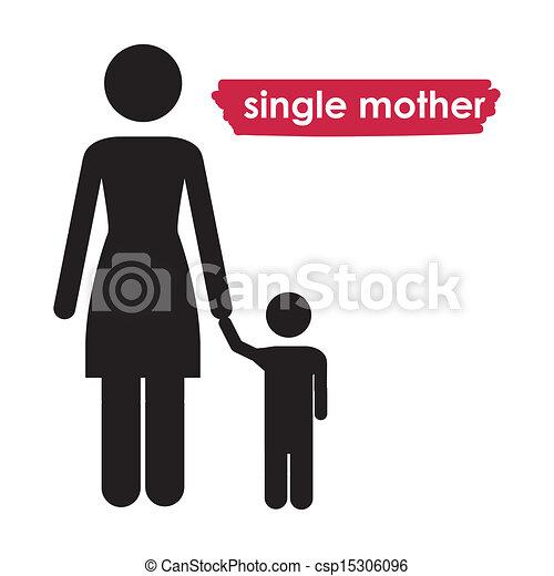sola madre - csp15306096