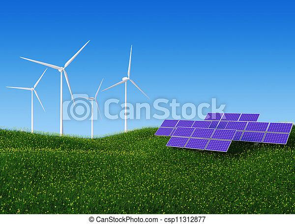 Solar and Wind Power II - csp11312877