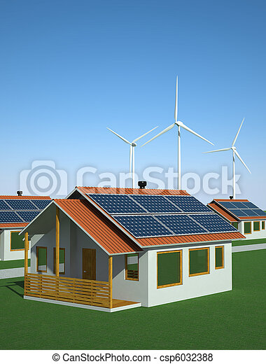 Solar and wind power - csp6032388