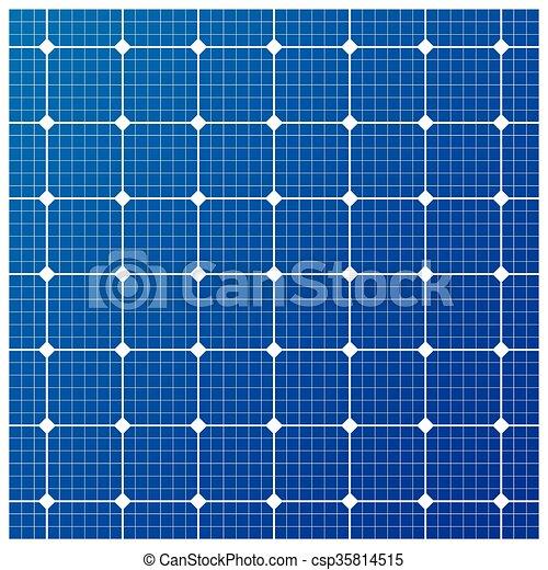 Solar cell pattern, vector - csp35814515